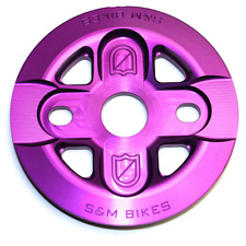 S&M BMX BIKE X-MAN GUARD BICYCLE SPROCKET PURPLE 25T OR 28T MADE IN USA FIT CULT