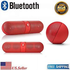 NEW Portable Bluetooth Wireless Stereo FM Mini Speaker For SmartPhone Red