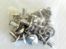Nickle Plated Brass CHICAGO SCREWS  for Tack/craft projects by Concho King