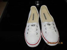 LADIES CONVERSE ALL STAR PUMPS  WHITE  UK 4.5 EXCELLENT CONDITION