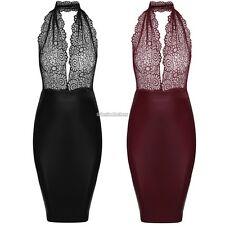 Zeagoo Sexy Women Lace Halter Neck Backless Bodycon Cocktail Party Dress N98B