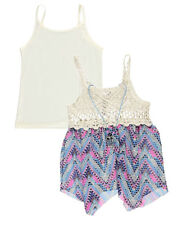 "Beautees Big Girls' ""Chevron Bite"" 2-Piece Top with Necklace (Sizes 7 - 16)"