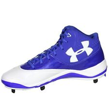 Under Armour Mens Ignite Mid ST CC Metal Cleat Royal/White