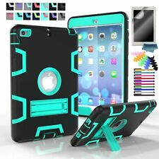 Protective Shell Case for Apple iPad Shockproof Stand Rugged Armor Back Cover
