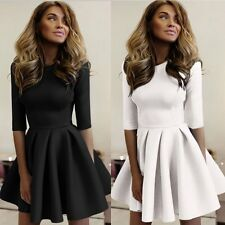 New Sexy Women Casual Long Sleeve Cocktail Evening Party A Line Short Mini Dress