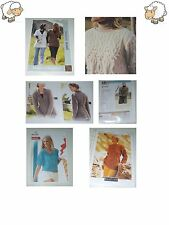 Ladies Jumper Cardigan Coat Dk Chunky Aran Size S-XL Knitting Patterns/Downloads