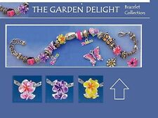 Tropical Floral Delight European Bead,Butterflies,Monarch Butterfly,Leaf,Heart,