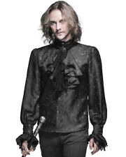 Devil Fashion Mens Gothic Shirt Top Black Steampunk Regency Aristocrat + Cravat