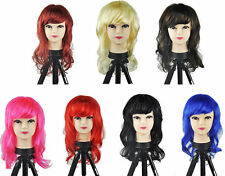 LONG 45cm WOMENS SEXY FANCY DRESS WIGS COSPLAY COSTUME LADIES FULL WAVY PARTY