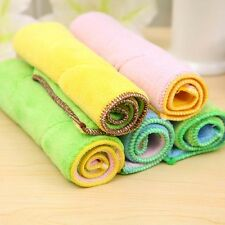 Absorbent Microfibre Kitchen Tea Towels Dish Drying Cleaning Towel Cloth 25x15cm
