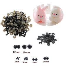 Toy 6-14mm 100pcs HOT Safety Plastic For Teddy Bear Eyes Animal/Felting Black