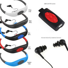 4/8GB Waterproof Sport Headset MP3 Player FM Radio Swimming Surfing Diving Cool