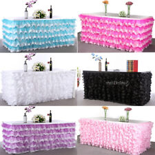 TUTU Table Skirt Wedding Birthday Baby Shower Party Tableware Decor Tulle 9 ft