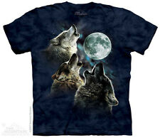 The Mountain 153859 Three Wolf Moon In Blue Child's Short Sleeve T-shirt Blue