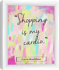 PTM Shopping is my Cardio Framed Graphic Art