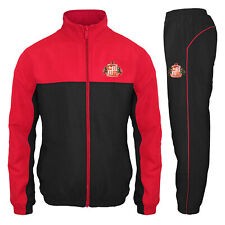 Sunderland AFC Official Soccer Gift Boys Jacket & Pants Tracksuit Set