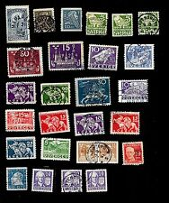 SWEDEN - COLLECTION OF 27 VERY OLD COMMEMORATIVE STAMPS - VERY NICE
