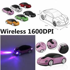 Creative 2.4GHZ Wireless Car Shape Mouse 1600DPI Wireless Optical Mouse Mice JQ