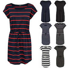 Women DRESS MAY short sleeve Summer Shirt Stripes color mix NEW