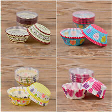 Quality 100 Pcs Colorful Muffin Cases Greaseproof Paper Baking Cupcake Liners