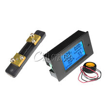 50A Digital LCD Volt Watt Current Power Meter Ammeter Voltmeter Meter+Shunt