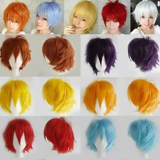20 Colors 100% Synthetic Short Men Women Anime Cosplay Wig Party Wigs Halloween