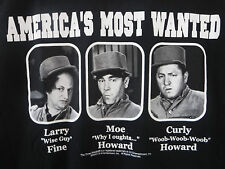 Three Stooges Moe Larry & Curly Tee Shirt Size Extra Large NEW