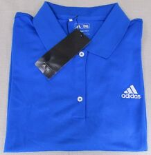 ADIDAS Golf Climalite Women's Performance Athletic Polo Shirt Blue 2XL NEW