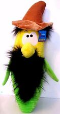 Six Flags 26 inch Plush Corn on the Cob with Hat Mustache Beard Hair Big Nose