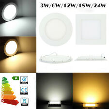 LED RECESSED LIGHTING PANEL CEILING DOWN LIGHT ULTRA SLIM ROUND SQUARE DOWNLIGHT