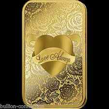 NEW MINT SEALED LQQK PAMP SUISSE 5 GRAM LOVE BAR PURE 9999 GOLD 999.9 PURE GOLD