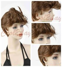 Real shot Korean Boy's Handsome Short Straight Cosplay Party Hair Wig Full Wigs