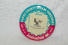 Darke County Steam Threshers 37 th. FATTENED  Aultman-tayor straw stack Pinback