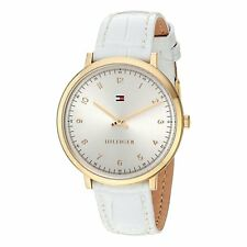 Tommy Hilfiger Silver  Ladies Analog Casual White Watch 1781763 1781765