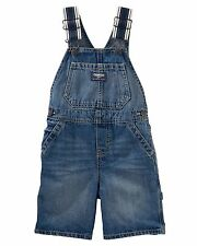 New OshKosh Boy Heritage Straps Short Overalls NWT 24m 2t 3t 4t 5t Denim Shorts