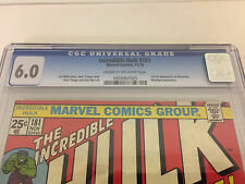 INCREDIBLE HULK 181 CGC 6.0 1ST APP WOLVERINE TRIMPE