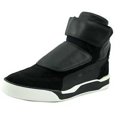 Alexander McQueen By Puma McQ Move Mid Men  Round Toe Leather Black Sneakers