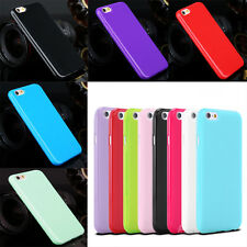 For iPhone 7 Back Cover Slim Soft Gel TPU Silicone Glossy Case for Samsung glaxy