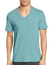 James Perse Men's Short Sleeve V Neck Tee Relaxed Fit Kelp USA $60 msrp NWT