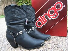 NEW Ladies Dingo Olivia by Dan Post Black Leather Western Fashion Boots DI522