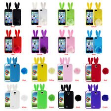 Soft Dust-proof TPU Rabbit Ears Phone Case Silicon Gel Cover For Iphone Samsung