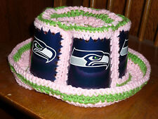 2016 SEATTLE SEAHAWKS BUD LIGHT CAN NFL KICKOFF PINK CROCHET BEER CAN HAT