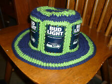 2016 SEATTLE SEAHAWKS BUD LIGHT CAN NFL KICKOFF CROCHET BEER CAN HAT