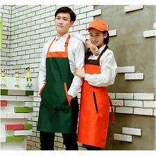 Shoulder Strap Waiter Uniform Bib Apron Kitchen Restaurant Chef Cooking Apron