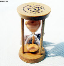 5 minutes Wood Sand Hourglass Timer Sandglass Sand Timer Clock for X'mas Gift
