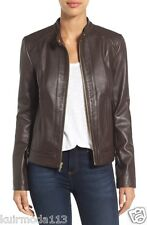 New Napa Leather  Awesome Designer Soft Leather Moto Style Jacket For Women W412
