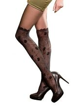 MOCK SUSPENDER TIGHTS by MONA  Patterned Tights 20/60 Den Over Knee Imitating