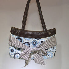 Thirty-One 31 Brown Skirt Purse Handbag Bag Pocketbook with Skirt in EUC