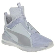 New Womens Puma Grey Fierce Quilted Textile Trainers Hi Top Elasticated Pull On