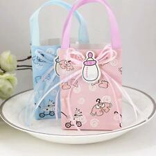 12xGirl Boy Baby Shower Candy Gift Bags Mini Tote Birthday Party Favor Decor